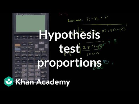 Hypothesis test comparing population proportions | Probability and Statistics | Khan Academy