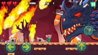 Jungle Adventures: Super World - Lava Plains Level 16 (Boss Fight) Gameplay (Free Game On Android)