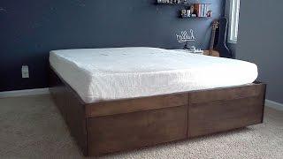 як зробити ліжко з висувними ящиками