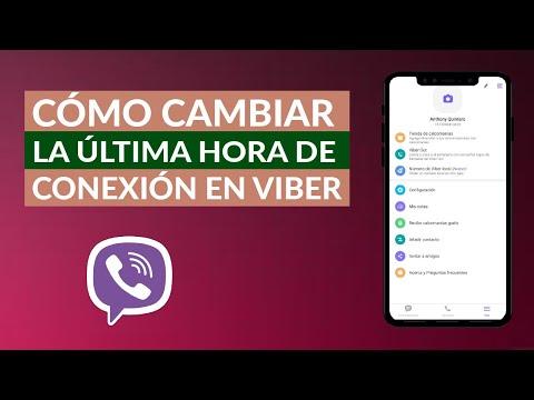 Cómo Puedo Cambiar la Última Hora de Conexión en Viber