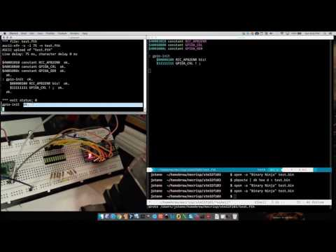Mecrisp Forth on STM32 Microcontroller (blue pill)
