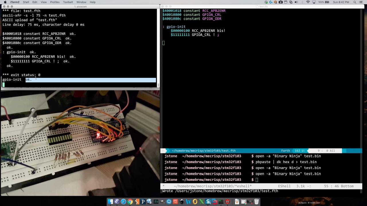 Mecrisp Forth on STM32 Microcontroller (blue pill)