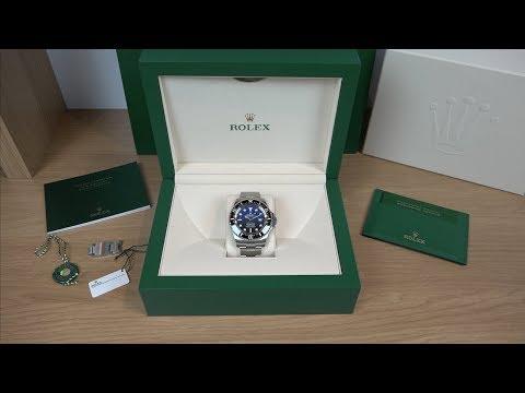 """4K Review: Rolex Deepsea D-Blue """"James Cameron"""" 126660 Unboxing"""