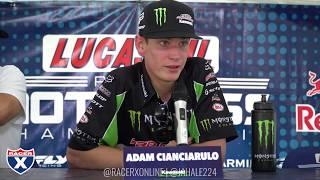 Adam Cianciarulo and the newly crowned 250 champion Zach Osborne ta...