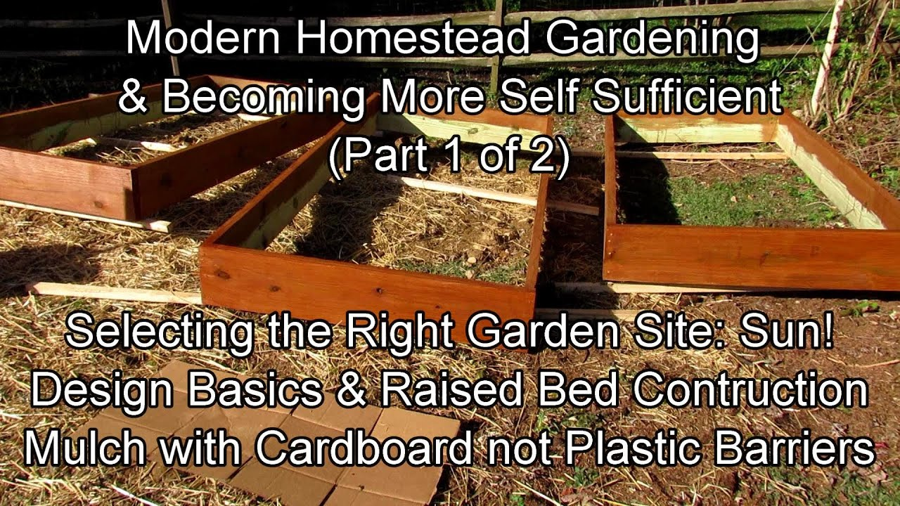 Modern Homestead Gardening & Becoming Self-Sufficient 4-12:  Placement, Sun, Water &  Bed Design