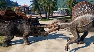 Spinosaurus vs Triceratops, Pentaceratops, Sinoceratops, Styracosaurus, Toro, Chasmo & Stegoceratops