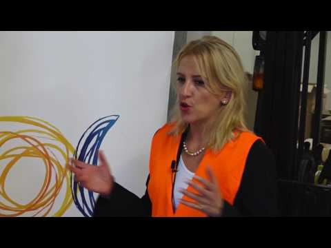 Interview with Rena Dourou, Governor of Attica Region – Visit of the logistical center for refugees