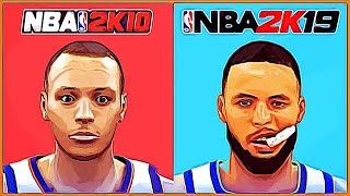 STEPH CURRY evolution [NBA 2K10 - NBA 2K19]
