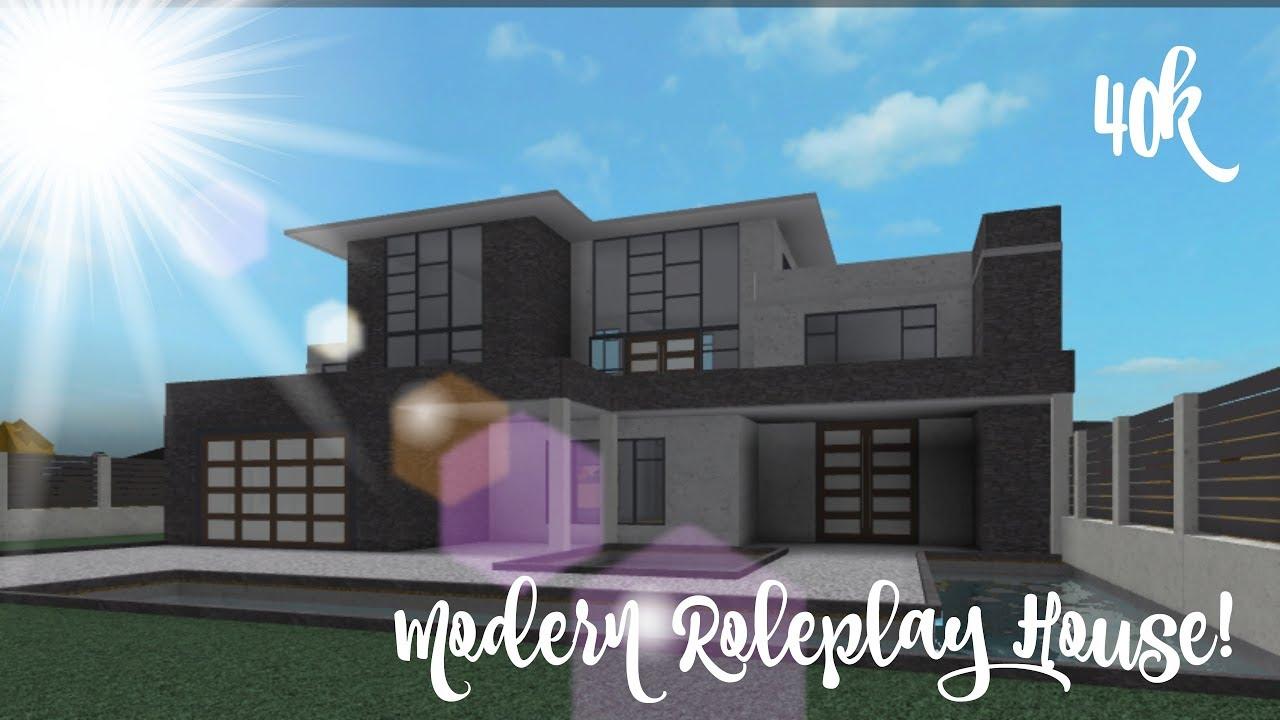 40k Bloxburg Mansion Modern House