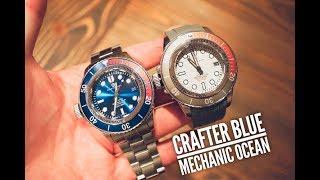 Crafter Blue Mechanic Ocean Watch Review - Left Side Crown!