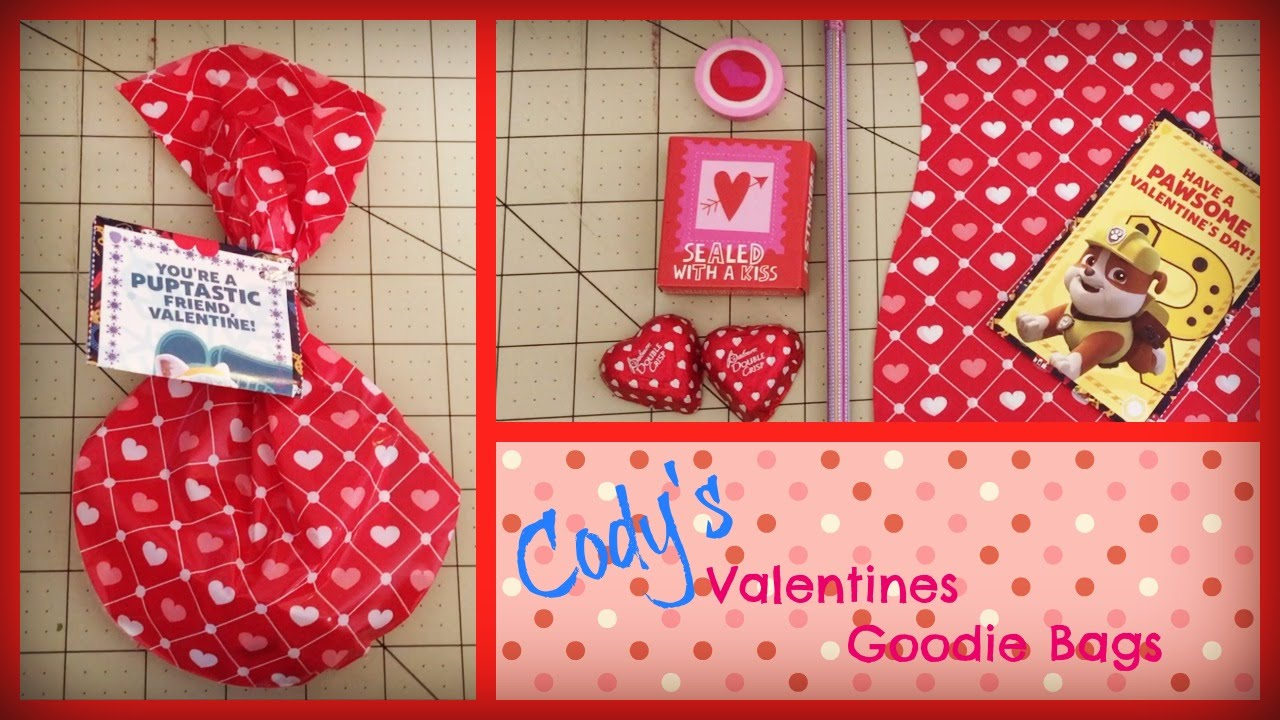 codys valentines goodie bag for his class youtube - Valentines Goodie Bags