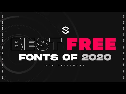 Learn more about graphic design : http://alldesignideas.com/ Best Free Fonts for Designers 2020 | 30.