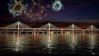 LnT panjim  Bridge(new mandovi Goa bridge)