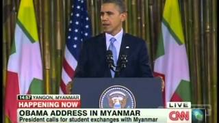 President Obama Yangon Myanmar Speech (November 19, 2012) [2/3]