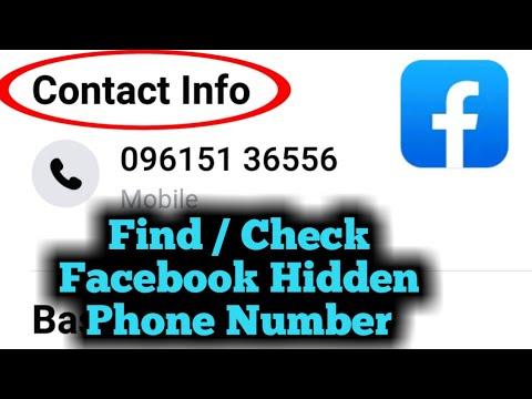 How To Find Facebook Hidden Phone Number