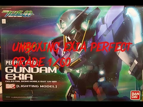UNBOXING GUNDAM EXIA PERFECT GRADE 1/60 LIGHTING MODEL
