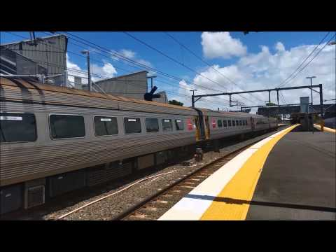 Queensland Rail ICE153 & ICE156 Express through Northgate Station.