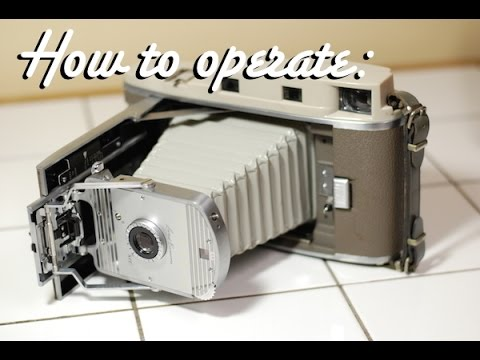 Polaroid Model 800 Land Camera - How to operate - YouTube