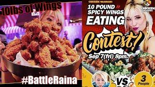 #BattleRaina 10lbs of Spicy Korean Chicken Wings | Chicken Warriors LA | RainaisCrazy