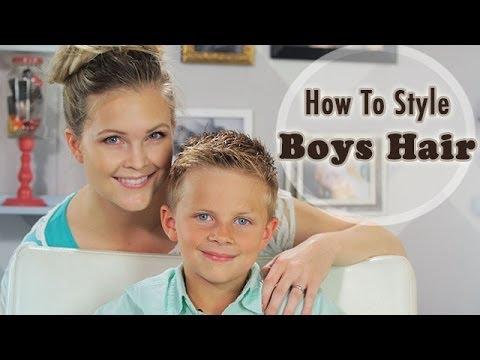 How to Style Boys Hair!!