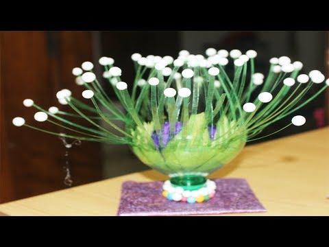empty-plastic-bottle-vase-making-craft- -water-bottle-recycle-flower-vase- -plastic-bottle-craft
