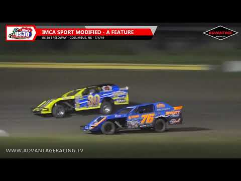 Sport Modified Feature - US 30 Speedway - 7/4/19