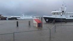 HARLESIEL Sturmflut 2013  Ostfriesland,Wittmund Harle 2