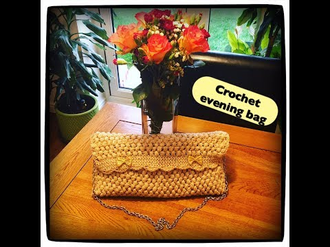 How to crochet evening / party bag