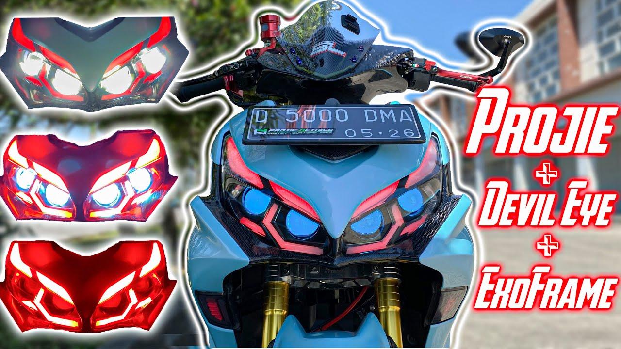 Gahar Banget!! Full Projie Makin Keren dan Terang | Aerox 155