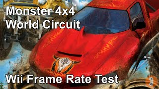 Monster 4x4: World Circuit Wii Frame Rate Test