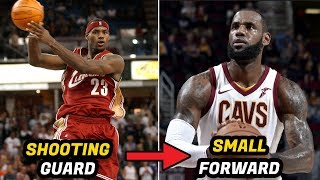 10 NBA Players Who Switched Positions In Their Career (LeBron, Durant, Jordan)