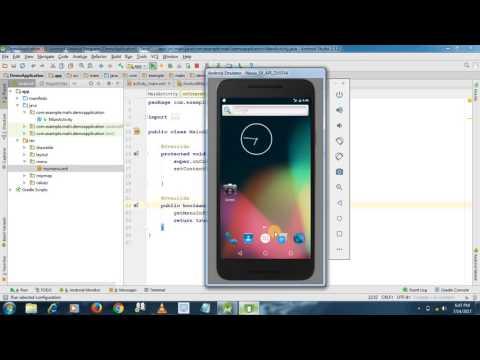 Android menu(three dots) Tutorial #14