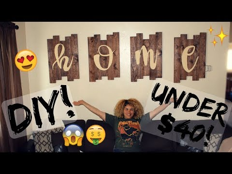 Easy DIY Wood Plank Home Decor Tutorial UNDER $40! | Naturally Sade