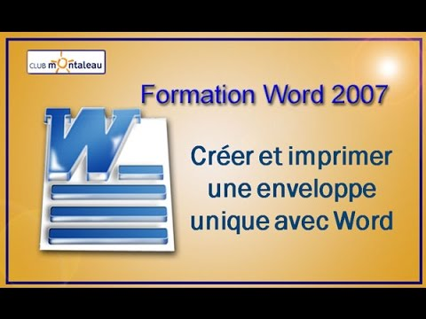 imprimer une enveloppe avec word 2007 youtube. Black Bedroom Furniture Sets. Home Design Ideas