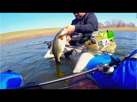 COVID FLOAT TUBE OPERATION W/ DEM JIGS (Best Day Bass Fishing)
