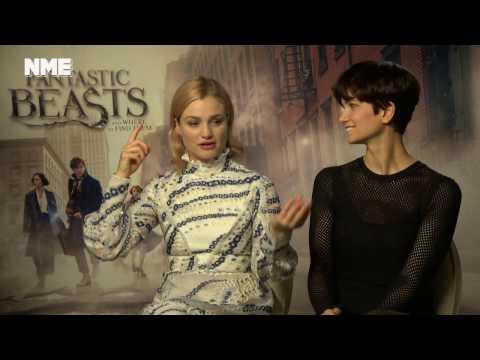 Fantastic Beasts: Alison Sudol and Katherine Waterston on J.K. Rowling's set visit
