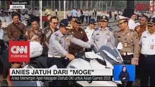 """Ini Momen Saat Anies Baswedan Jatuh Dari """"Moge"""""""