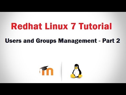 User and Group Management in RHEL 7 (Creating user's using U