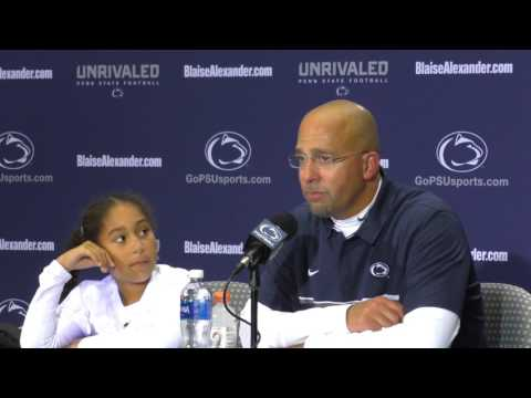 Penn State's James Franklin breaks down during press conference after death of brother-in-law