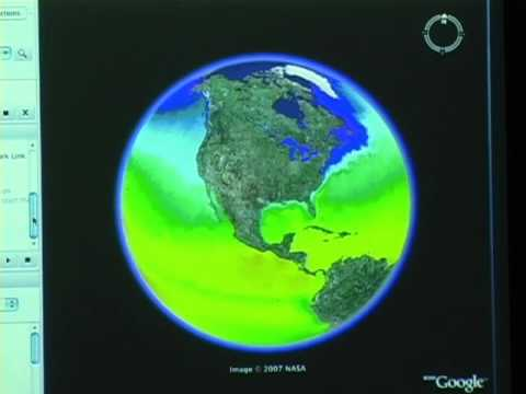 Using Google Earth for Near Real Time Natural Hazard Monitoring