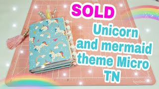 SOLD   Unicorn and Mermaid theme Micro TN   Planning With Eli