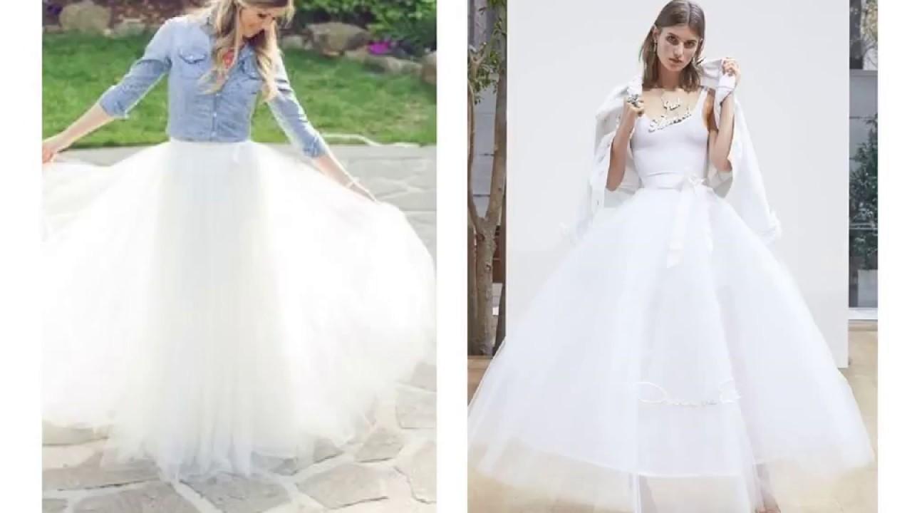 334bb2f9a95 White Denim Wedding Dress - YouTube