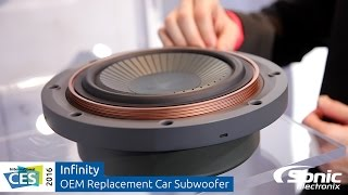 Infinity OEM Replacement Car Subwoofer w/ Adjustable Mounting Depth | CES 2016