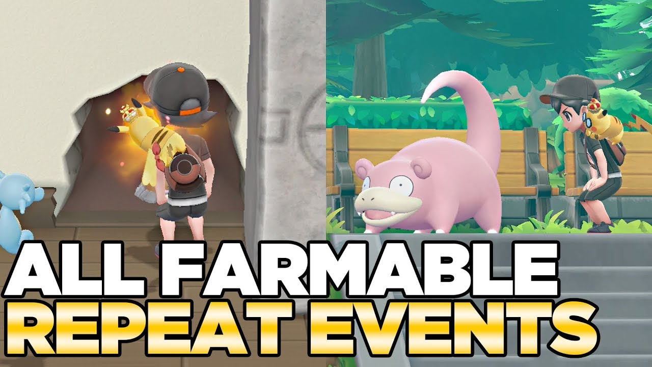 All Repeatable Events in Pokemon Let's Go Pikachu & Eevee
