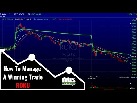 How To Manage A Winning Trade | ROKU Trade Review