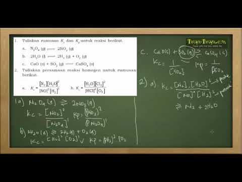 Belajar Kimia : Materi dan Contoh Soal Reaksi Kesetimbangan Part 2