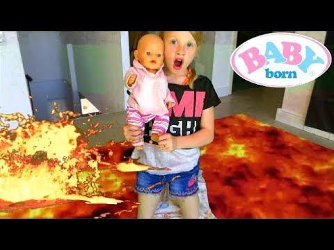La Poupée BABY BORN envahie  par la Lave de la télé