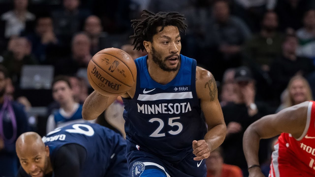 9d63557ed983 Derrick Rose Full Game 4 Highlights Wolves vs Rockets 2018 Playoffs - 17 Pts