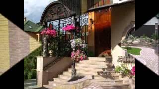 видео Парадное крыльцо частного дома: лестница в загородном коттедже