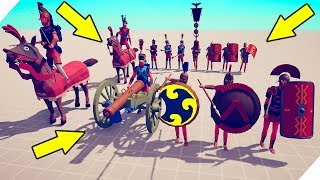 БИТВА МОДОВ. Спартанцы, римляни и Наполеон - Totally Accurate Battle Simulator! Табс